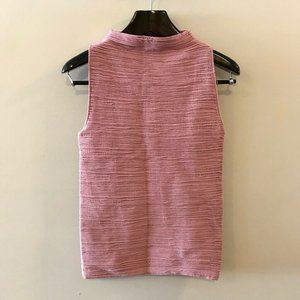 Wolford Pullover Sweater Pink Sleeveless Large